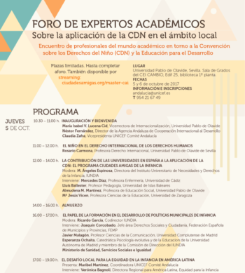 Experts Forum: Applying the Convention on the Rights of the Child to Local Environments — Spain